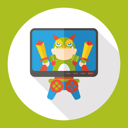 users video: video game flat icon