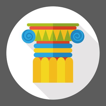 column: Architectural column flat icon