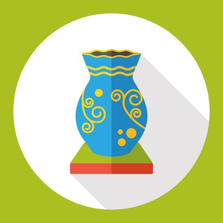 greek pot: icona piatto di ceramica vaso