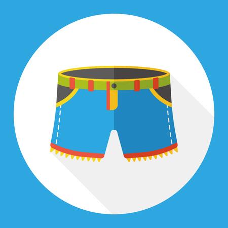wearing: wearing pants flat icon