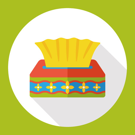 soft tissues: tissue papper flat icon