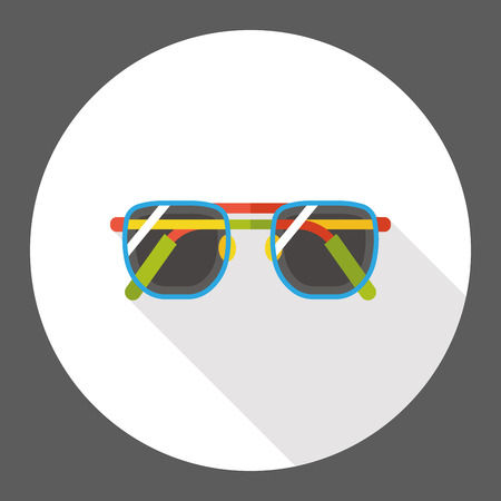 sun glasses: sun glasses flat icon Illustration