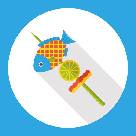 spear: Fish spear flat icon