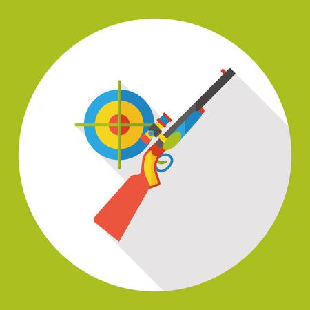 paintball: Gun target flat icon