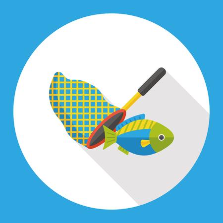 fishnet: fishing net flat icon Illustration
