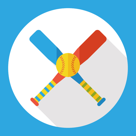 beat the competition: hobby baseball flat icon