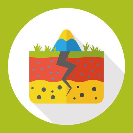 토양 토양 평면 아이콘 일러스트