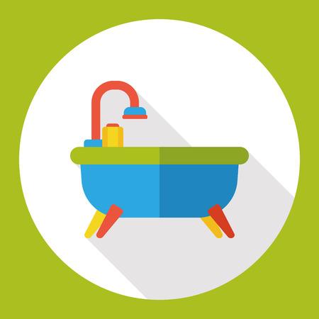 hot tub: bathtub flat icon