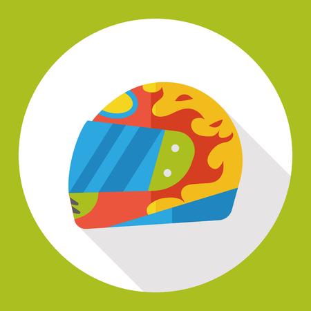 racer: racer helmet flat icon