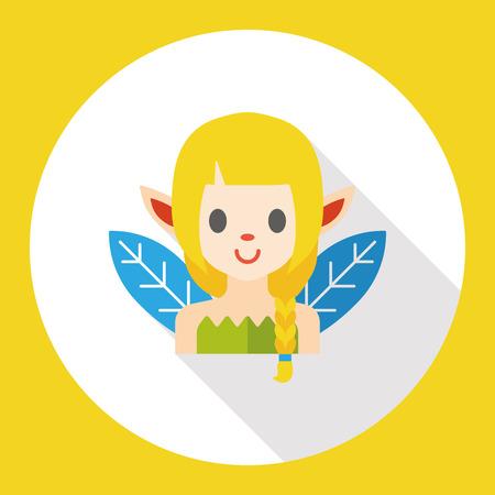 elves: fairy tale elves flat icon Illustration
