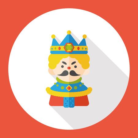 design drawing: cartoon king flat icon