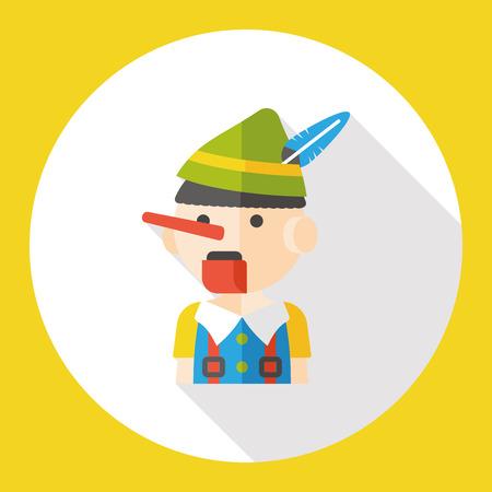 títere: marioneta de dibujos animados icono plana