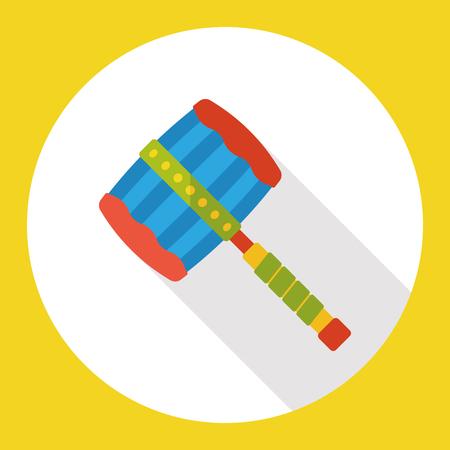 auction gavel: tool hammer flat icon
