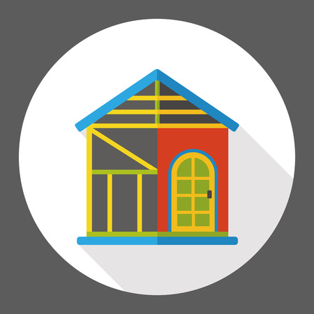 farmhouse: barn warehouse flat icon