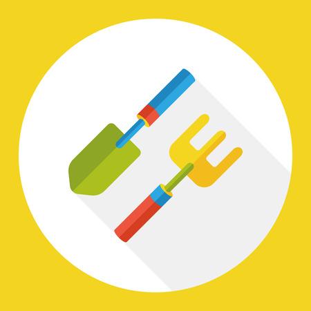 hand shovels: gardening shovel flat icon