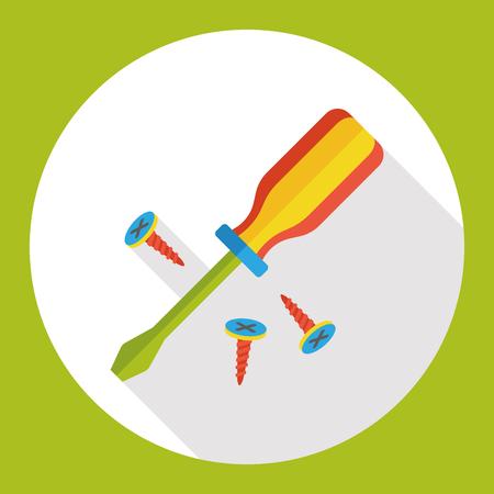 screwdrivers: tool screwdrivers flat icon