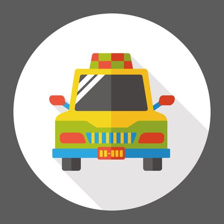 private service: taxi car flat icon