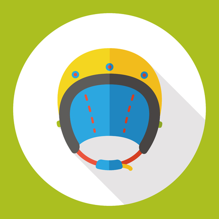 sports helmet: car helmet flat icon