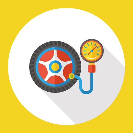 car tire: car tire flat icon Illustration