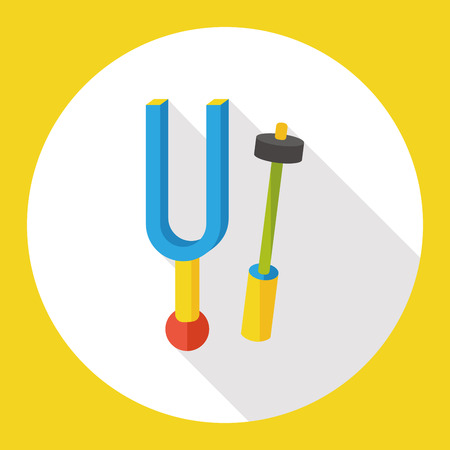 tuning fork: tuning fork flat icon