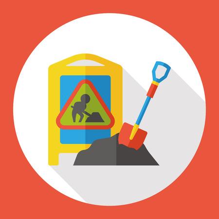 mound: sand cement flat icon