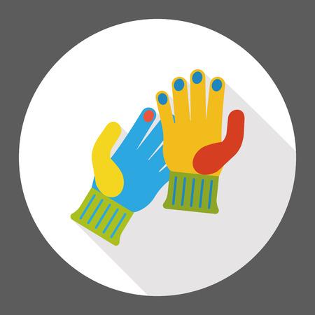 working gloves: Working gloves flat icon Illustration