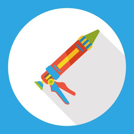 seal gun: Glue gun flat icon Illustration