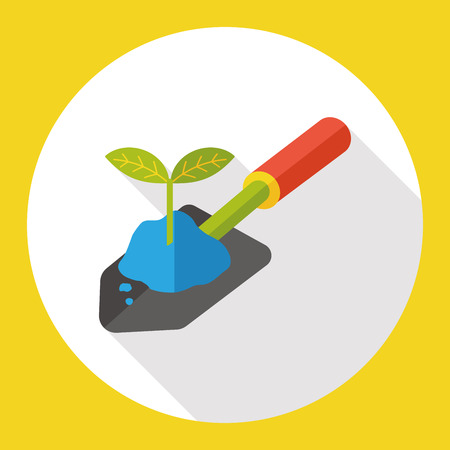 gardening shovel flat icon