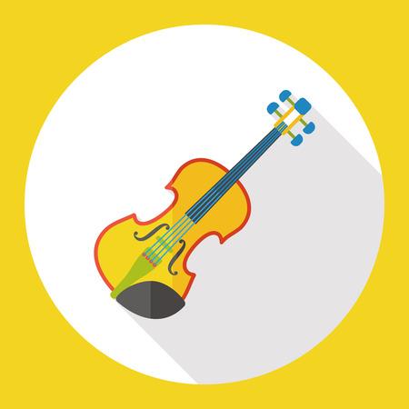 Violine Musik Instrument flache Symbol