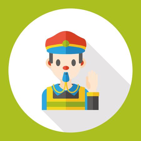 Traffic police flat icon