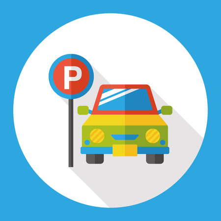 parking car: parking car flat icon
