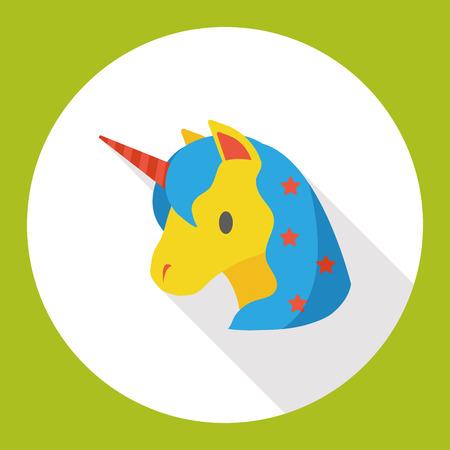fairy: fairy tale unicorn flat icon