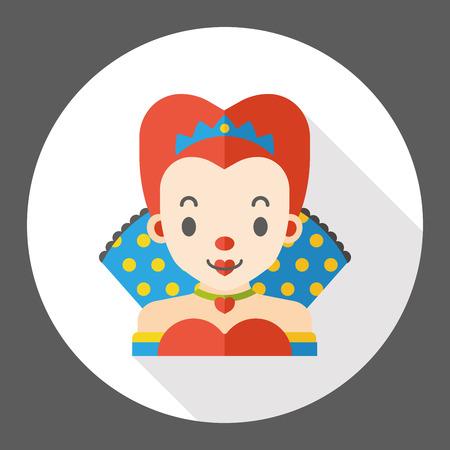 monarchy: cartoon queen flat icon Illustration