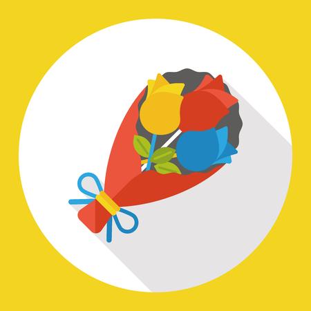 flower bouquet flat icon Stock Illustratie