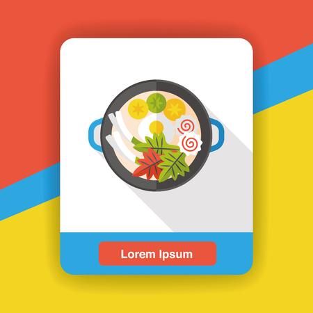 noodle: noodle flat icon Illustration