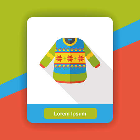 winter clothes: winter clothes flat icon Illustration