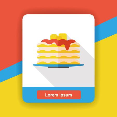 pancake: pancake flat icon Illustration