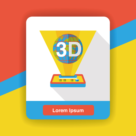 printing machine: 3D printing machine flat icon