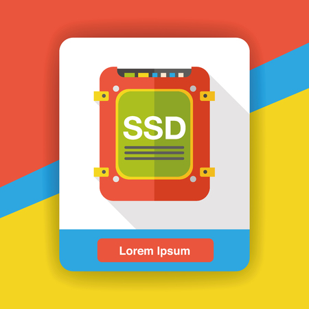 ssd: SSD data flat icon
