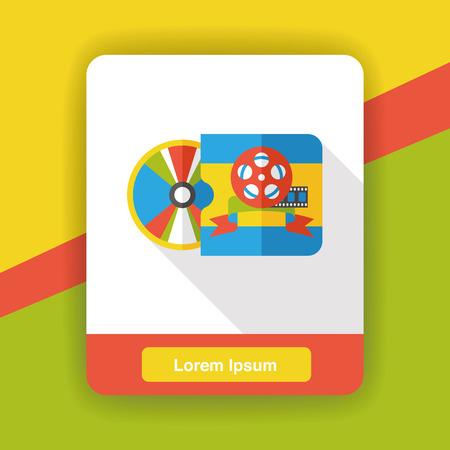 dvd rom: DVD flat icon Illustration