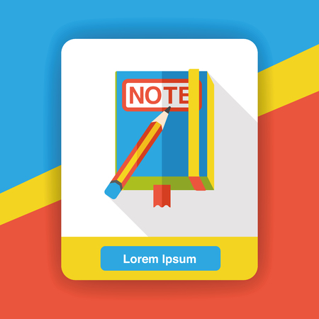 education icon: notebook flat icon