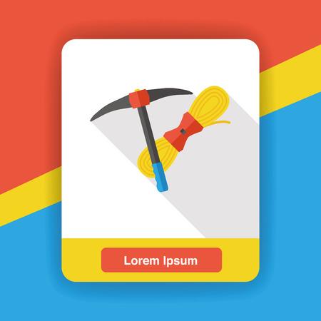 hoe: Hoe flat icon Illustration