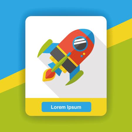 luftschiff: Raum Luftschiff flach Symbol Illustration
