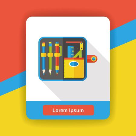 book case: Pencil Bag flat icon