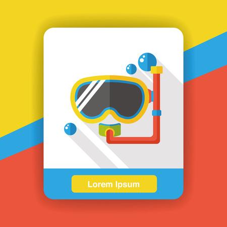 goggles: Goggles flat icon