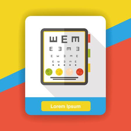optometry: Eye chart flat icon Illustration