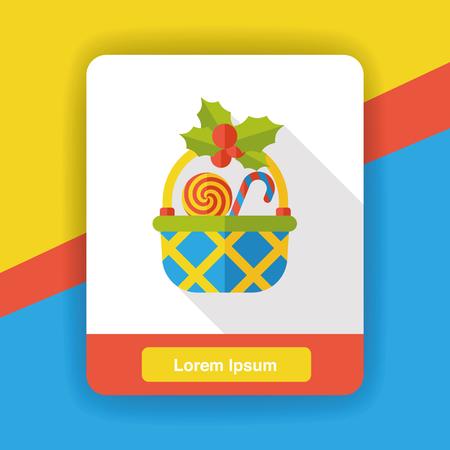 gift basket: gift basket flat icon