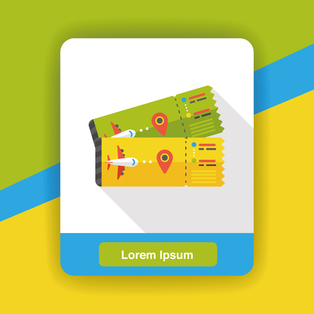 business travel: air ticket flat icon Illustration