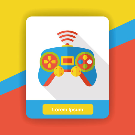 controller: game controller flat icon Illustration