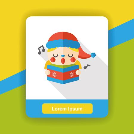 musicality: singing boy flat icon